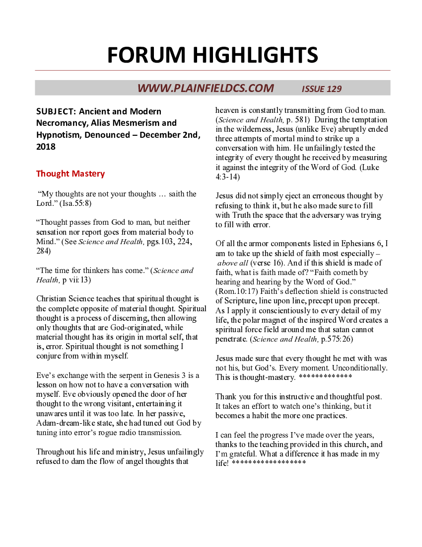 Forum Highlights, issue 129
